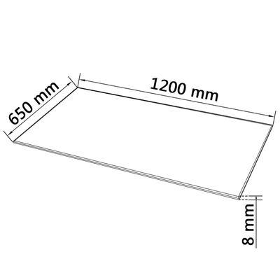 vidaXL Bordsskiva i härdat glas 1200x650 mm rektangulär ,