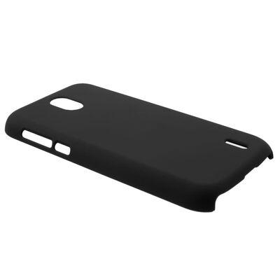 Nokia 1 Rubberized Hård Plast Skal - Svart