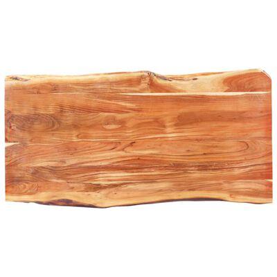 vidaXL Bord med levande kant massivt akaciaträ 200 cm 6 cm