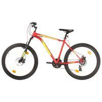 vidaXL Mountainbike 21 växlar 27,5 tums däck 50 cm röd
