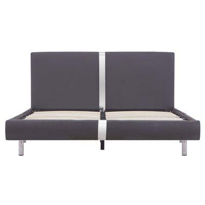vidaXL Sängram grå konstläder 140x200 cm, Grå