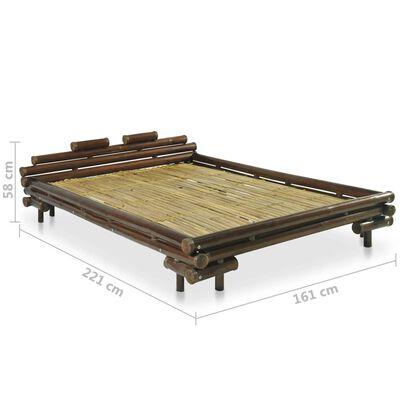 vidaXL Sängram mörkbrun bambu 140x200 cm, Mörkbrun