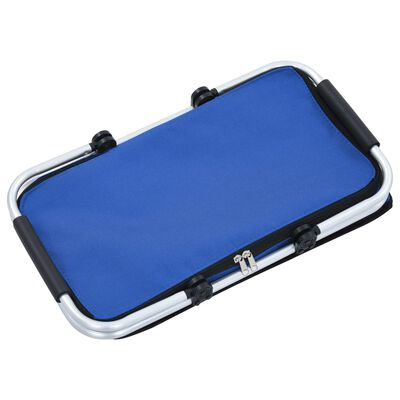 vidaXL Hopfällbar kylväska blå 46x27x23 cm aluminium