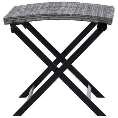 vidaXL Hopfällbar pall konstrotting grå