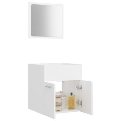 vidaXL Badrumsmöbler 2 delar set vit spånskiva
