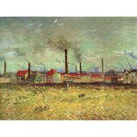 Factories at Asnieres Seen from the Quai de Clichy,Vincent Van Gogh