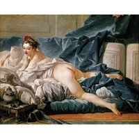 The Brunette Odalisque,Francois Boucher,53.5x64.5cm