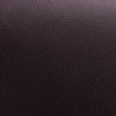 vidaXL Fåtölj med fotpall brun konstläder