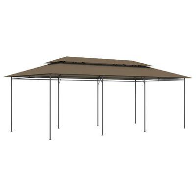 vidaXL Paviljong 600x298x270 cm taupe 180 g/m²