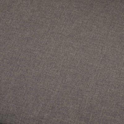 vidaXL 2-sitssoffa taupe tyg