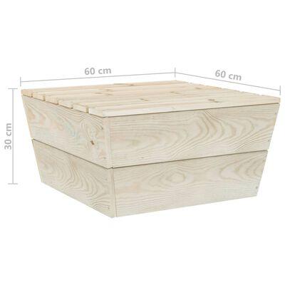 vidaXL Pallsoffa för trädgården med dynor 6 delar granträ