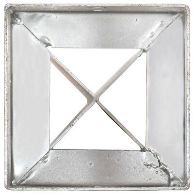 vidaXL Jordspett 2 st silver 12x12x89 cm galvaniserat stål
