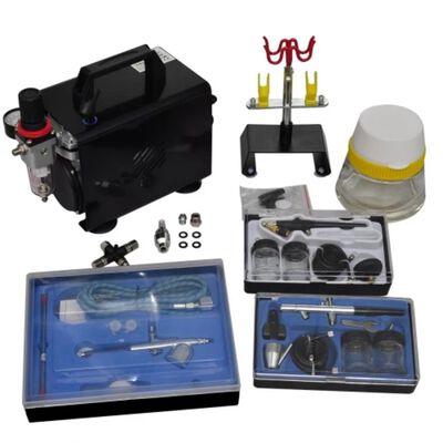 vidaXL Airbrush med kompressor och 3 färgsprutor