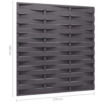 vidaXL Staketpanel WPC 170x180 cm grå
