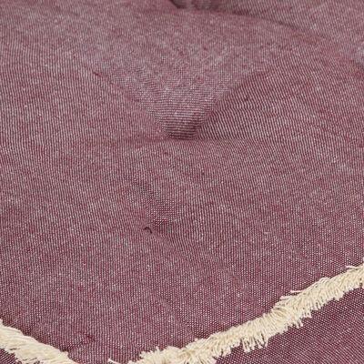 vidaXL Dyna till pallsoffa vinröd 73x40x7 cm