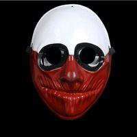 Clown Purge mask maskerad fest party halloween - Brun-Vit