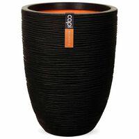 Capi Vas Nature Rib elegant låg 46x58 cm svart KBLR783