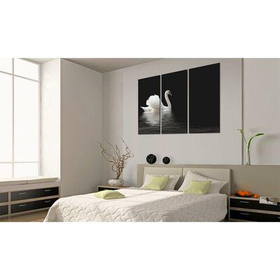 Tavla - A Lonely White Swan - 120x80 Cm