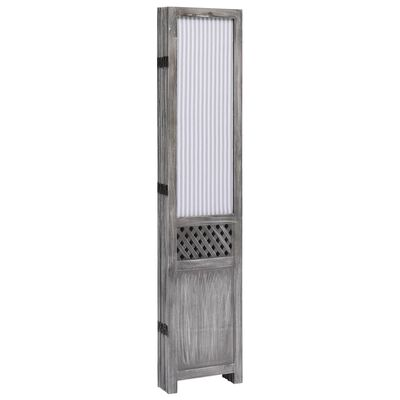 vidaXL Rumsavdelare 5 paneler grå 175x165 cm tyg