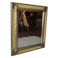 Spegel i silver, yttermått 66x76 cm