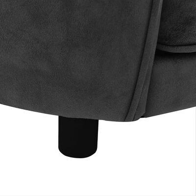 vidaXL Hundsoffa mörkgrå 69x49x40 cm plysch
