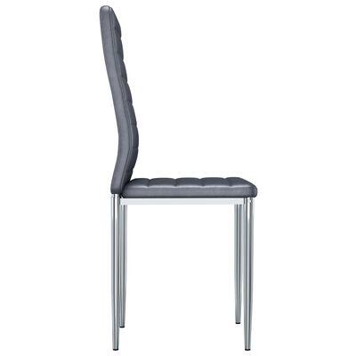 vidaXL Matstolar 4 st grå konstmocka