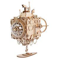 Robotime DIY Musiklåda byggsats Steampunk Submarine ,