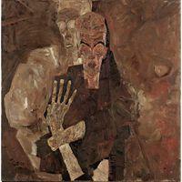 The Self-Seers II,Egon Schiele,80.3x80cm