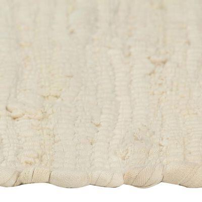 vidaXL Bordstabletter 4 st chindi gräddvit 30x45 cm bomull
