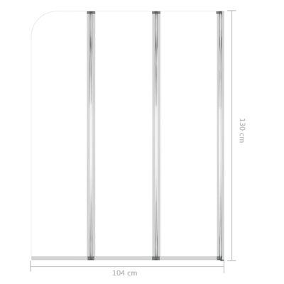 vidaXL Badkarsvägg 2 st 104x130 cm härdat glas transparent,