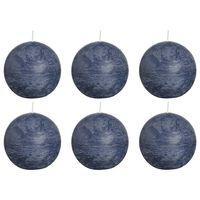 Bolsius Rustika klotljus 6 st 80 mm mörkblå