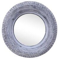 vidaXL Spegel vit 50 cm återvunnet gummidäck