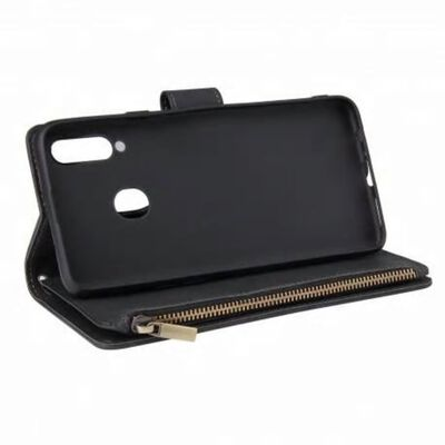 Samsung A20s Multifunktionellt Plånboksfodral Zipper 8-fack