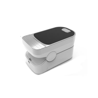 Pulsoximeter som mäter syresättning och puls via finger Silver