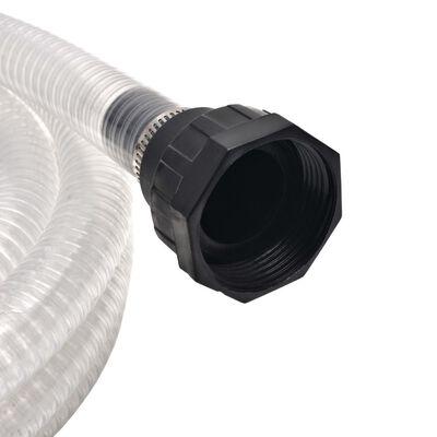 vidaXL Sugslang med koppling 10 m 22 mm vit