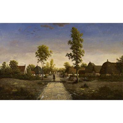 The village of becquigny,Theodore Rousseau,60x40cm