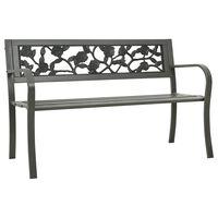 vidaXL Trädgårdsbänk 125 cm stål grå