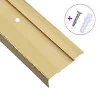 vidaXL L-formade halkskydd för trapp 15 st aluminium 134 cm guld, Guld