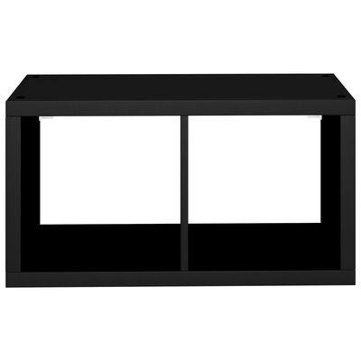 vidaXL Väggmonterad kubhylla svart 69,5x29,5x37 cm MDF