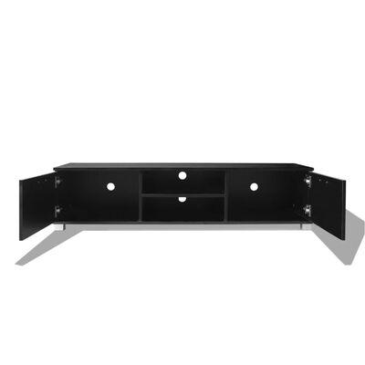 vidaXL TV-bänk högglans svart 140x40,3x34,7 cm