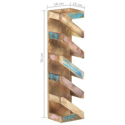 vidaXL Vinställ för 5 flaskor massivt återvunnet trä