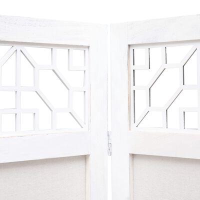 vidaXL Rumsavdelare 6 paneler 210x165 cm gräddvit tyg