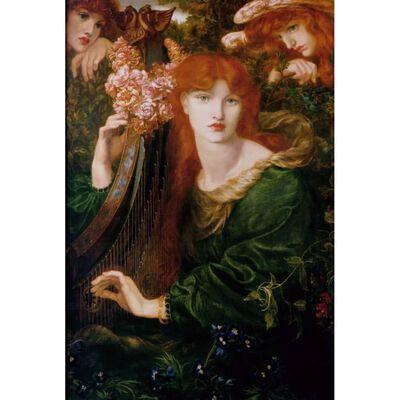La Ghirlandate,Dante Gabriel Rossetti,60x40cm,
