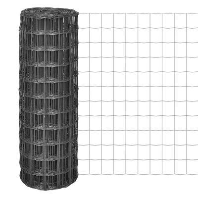 vidaXL Eurofence stål 10x1,7 m grå