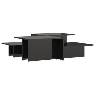 vidaXL Soffbord 2 st svart högglans 111,5x50x33 cm spånskiva