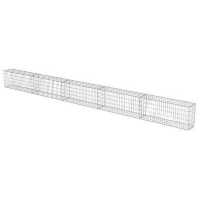 vidaXL Gabionmur i galvaniserat stål 600x30x50 cm