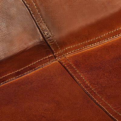 vidaXL Fladdermusfåtölj brun barnstorlek äkta läder