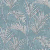 DUTCH WALLCOVERINGS Tapet Palm Springs blå och grå