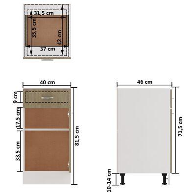 vidaXL Underskåp med låda sonoma-ek 40x46x81,5 cm spånskiva