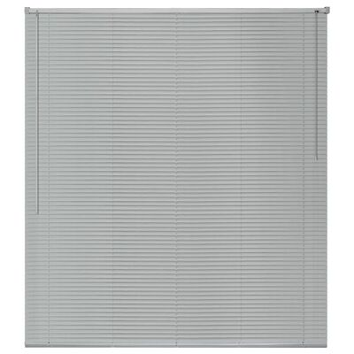 vidaXL Persienn aluminium 120x130 cm silver
